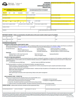 BC Standard Outpatient Bone Densitometry Requisition - Nov2017 background