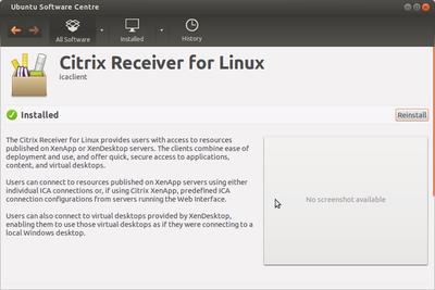 Citrix ICA installation