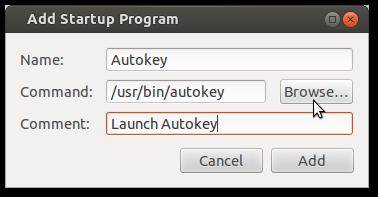 Autokey startup